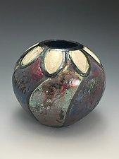 Margarita Raku Vase by Lilia Venier (Ceramic Vessel)