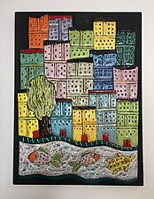 Naples III by Lilia Venier (Ceramic Wall Sculpture)