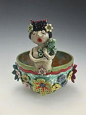 Susie Mermaid Bowl by Lilia Venier (Ceramic Bowl)