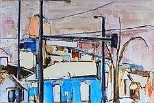Blue House by Meghan Wilbar (Oil Painting)