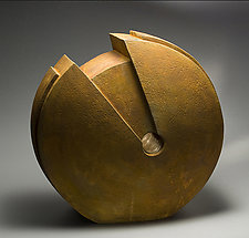 Fortune's Disk by Jan Hoy (Ceramic Sculpture)