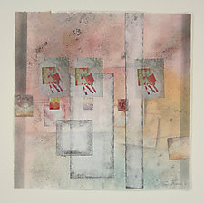 Doors and Windows by Peggy Brown (Mixed-Media Painting)