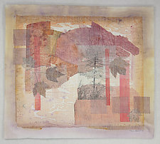Growing Things IV by Peggy Brown (Fiber Wall Hanging)