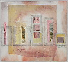 Painted Words IV by Peggy Brown (Fiber Wall Hanging)