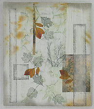 Turning Leaves l by Peggy Brown (Fiber Wall Hanging)