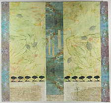 Time for Spring by Peggy Brown (Fiber Wall Hanging)