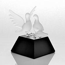 Love Birds by Hung Nguyen (Art Glass Sculpture)