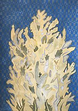 Portuguese Cypress 1 by Meredith Nemirov (Mixed-Media Painting)