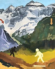 Walking Man by Meredith Nemirov (Oil Painting)