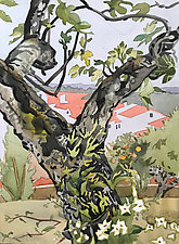 Figueira (the Fig Tree) by Meredith Nemirov (Watercolor Painting)