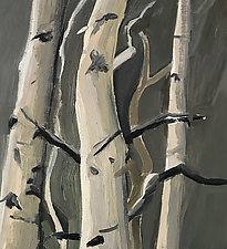 Deep in the Aspen Woods 1 by Meredith Nemirov (Oil Painting)