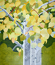 Aspens in Autumn by Meredith Nemirov (Giclee Print)
