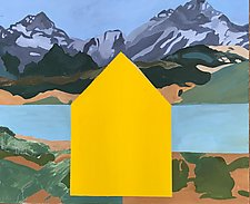 Mountain Home 2 by Meredith Nemirov (Oil Painting)