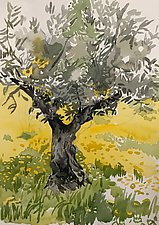 Oliveira (the Olive Tree) by Meredith Nemirov (Watercolor Painting)