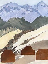 Mountain Home 3 by Meredith Nemirov (Oil Painting)