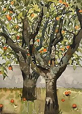 Laranja (the Orange Tree) by Meredith Nemirov (Watercolor Painting)