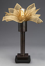 Blooming Table Lamp by Jerry Davis (Mixed-Media Table Lamp)