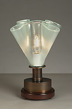 Champagne Bubble Glass Night Light by Jerry Davis (Mixed-Media Table Lamp)