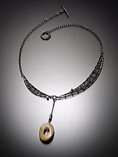 Shoot the Moon Necklace by Randi Chervitz (Silver & Stone Necklace)