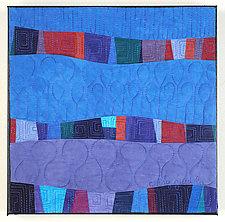Blue Doodlebug II by Cindy Grisdela (Fiber Wall Hanging)