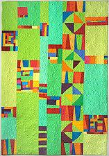 Lime Medley by Cindy Grisdela (Fiber Wall Hanging)