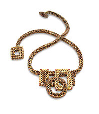 Creme Brulee Necklace by Sheila Fernekes (Beaded Necklace)