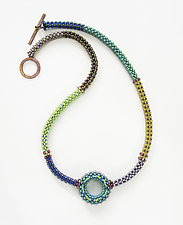 Kandinsky Circle Necklace by Sheila Fernekes (Beaded Necklace)