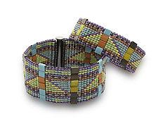 Mesa Trail Woven Cuff by Sheila Fernekes (Beaded Bracelets)