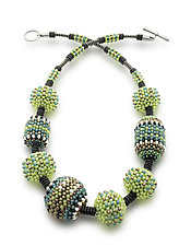 Cosmos Necklace by Sheila Fernekes (Beaded Necklace)