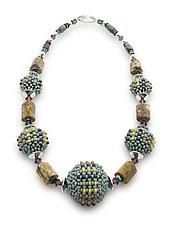 Birds Eye Rhyolite Necklace by Sheila Fernekes (Beaded Necklaces)