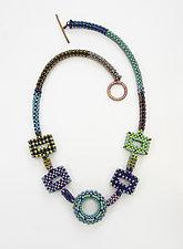 Kandinsky Combo Necklace by Sheila Fernekes (Beaded Necklace)