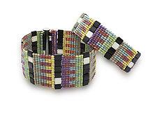 Bauhaus Woven Cuffs by Sheila Fernekes (Beaded Bracelets)