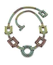 Kandinsky Tritone Necklace by Sheila Fernekes (Beaded Necklace)