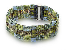 Turquoise Woven Cuff by Sheila Fernekes (Beaded Bracelet)