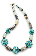Amazonite Beaded Necklace by Sheila Fernekes (Beaded Necklace)