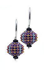 Tutti Fruiti Orb Earrings by Sheila Fernekes (Silver & Bead Earrings)
