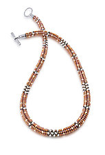 Caramel Latte Woven Necklace by Sheila Fernekes (Beaded Necklace)