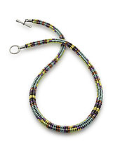 Mesa Trail Woven Necklace by Sheila Fernekes (Beaded Necklace)