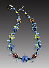 Carib Orb Necklace by Sheila Fernekes (Glass Necklace)