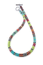 Color Wheel Woven Necklace by Sheila Fernekes (Beaded Necklace)