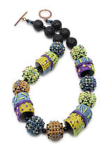 Colores del Sol Necklace II by Sheila Fernekes (Beaded Necklace)