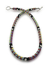 Bauhaus Woven Necklace by Sheila Fernekes (Beaded Necklace)