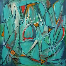 Abstract Art Thirteen by Lynne Taetzsch (Acrylic Painting)
