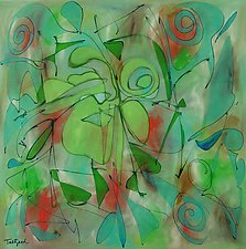 Laughing Lotus by Lynne Taetzsch (Acrylic Painting)