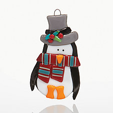 Top Hat and Tails by Kimberle Straub (Art Glass Ornament)