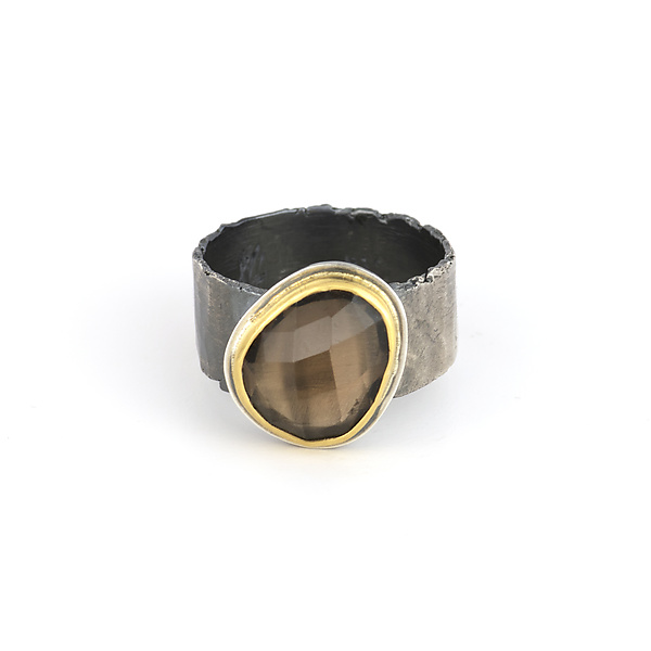 Smoky Quartz Reef Ring