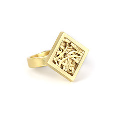 Tangle Mini Rhombus Ring by Janet Blake (Gold Ring)