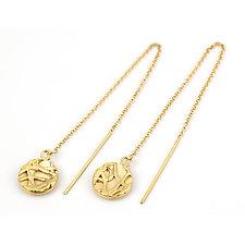 Tangle Threader Earrings by Janet Blake (Gold or Silver Earrings)