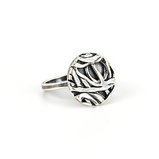 Tangle Button Ring by Janet Blake (Gold or Silver Ring)