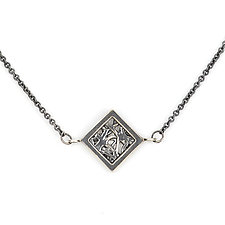 Tangle Mini Rhombus Necklace by Janet Blake (Gold or Silver Necklace)